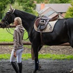 Cavalleria Toscana Circular Quilted Saddle Pad