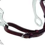 Curb strap Leather Black pony