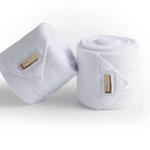 Equestrian Stockholm Fleece Bandages White Gold