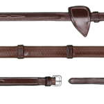 Dy on 1/2 (13mm) Rubber Reins 7 Leather Loops Hunter Coll.