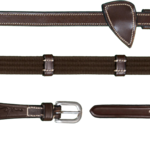 Dy on 5/8 16mm Full Leather Curb Reins 7 Loops Working