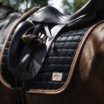 Equito Saddle pad – Black Peach