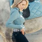 PS Of Sweden Alessandra Half-Zip Sweater Aqua