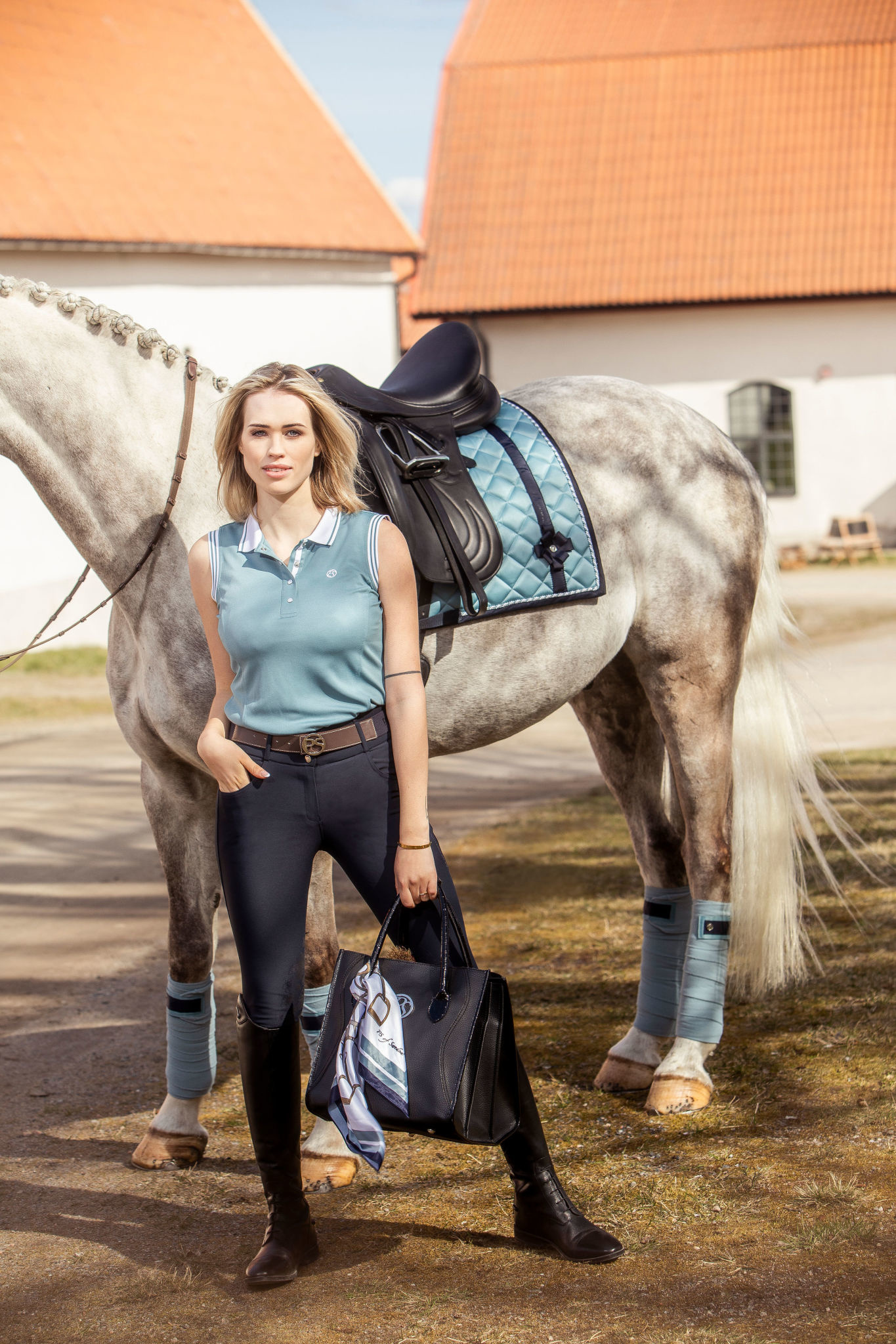 PS Of Sweden Bow Polos Aqua One Size
