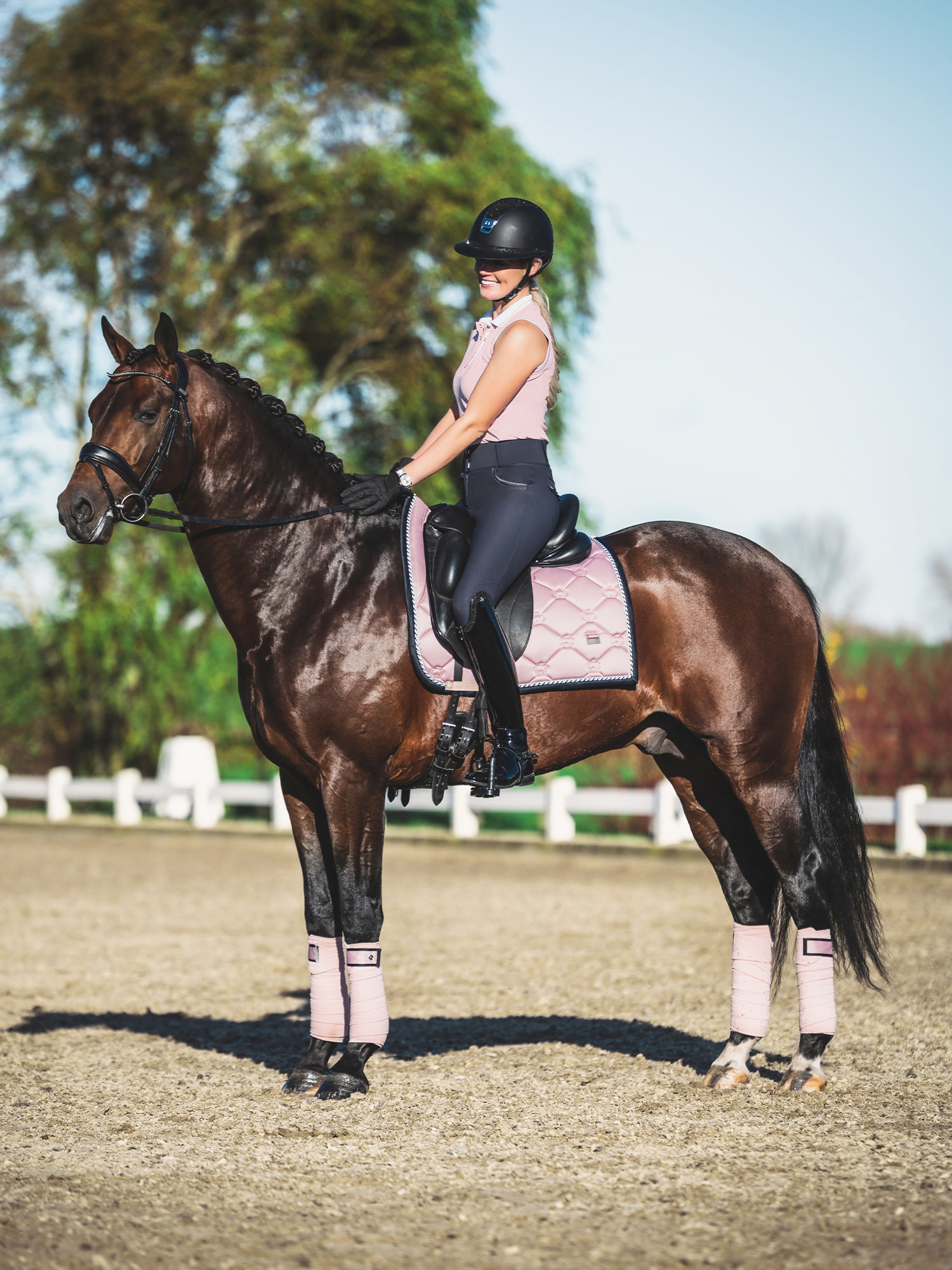 PS Of Sweden Saddle Pad Pink