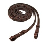 Schockemohle Hunter Laced Fancy Reins With Hooks Embroidered