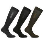 Cavalleria Toscana Triple Bar Socks Grey/Black/Brown