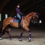 Equestrian Stockholm Saddle Pad Orchid Bloom