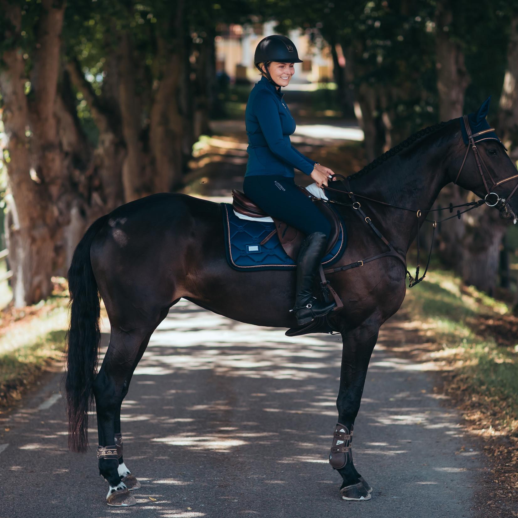 Equestrian Stockholm Saddle Pad Monaco Blue