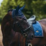 Equestrian Stockholm Ear Net Monaco Blue Full