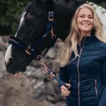 Equestrian Stockholm Fur Halter & Lead Rope Monaco Blue