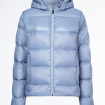 Tommy Hilfiger Equestrian Hooded Down Jacket TH Style Moonstone