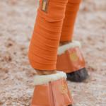 Equestrian Stockholm Fleece Bandages Bronze Gold