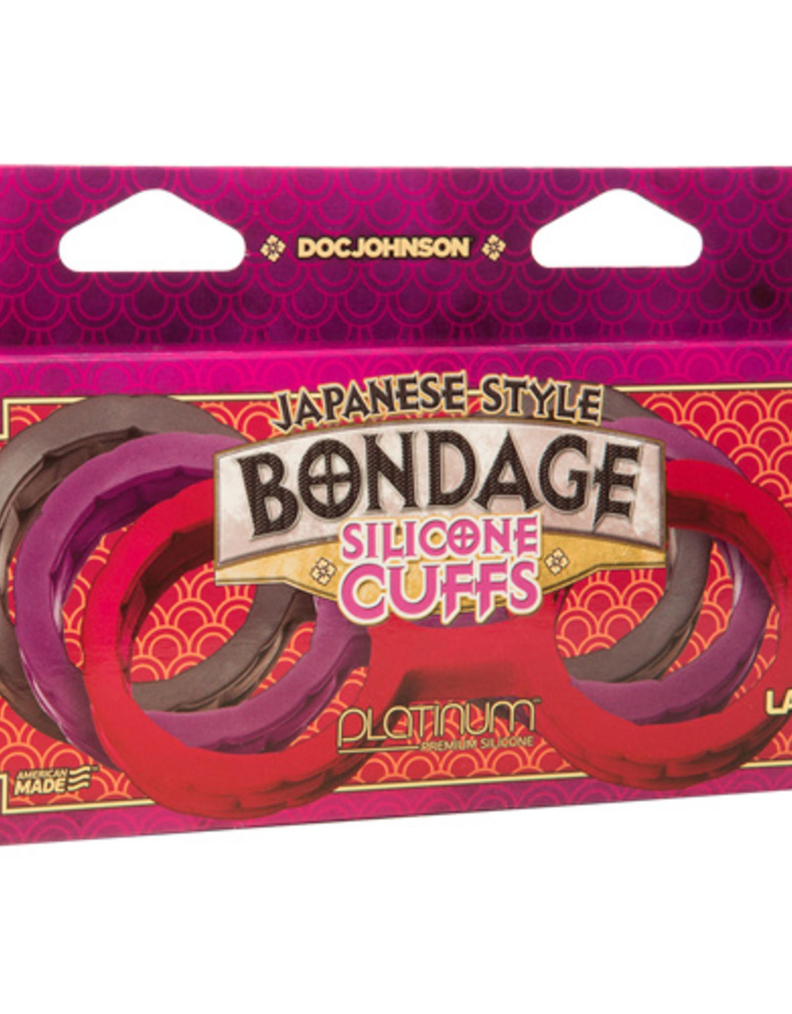 Japanese Bondage Japanese Bondage Siliconen Enkelboeien - Zwart