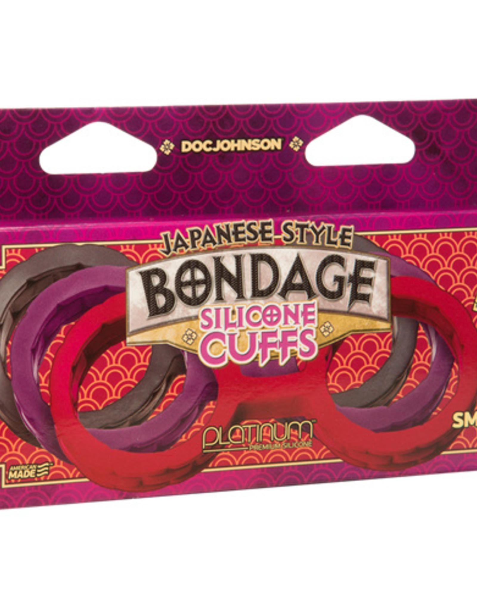 Japanese Bondage Japanese Bondage Siliconen Handboeien - Paars