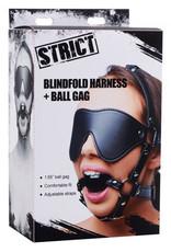 Strict Kunstleren Masker Met Ball Gag