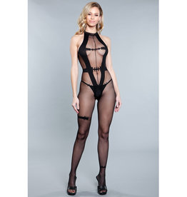 Be Wicked Wine And Rose Petals Bodystocking