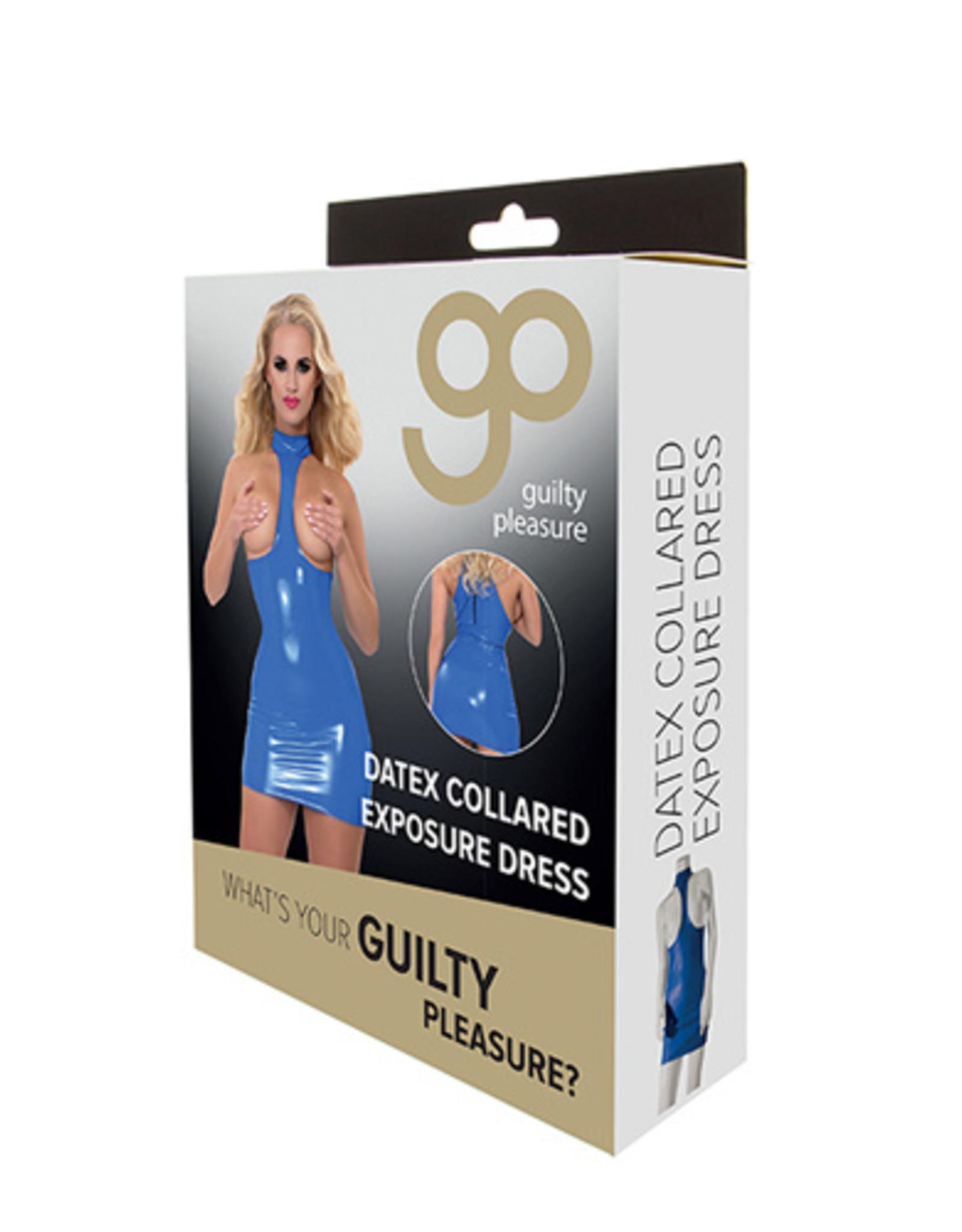 Guilty Pleasure GP Datex Halterjurk Met Open Cups - Blauw