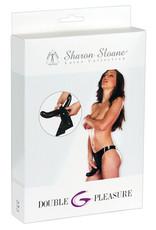 Sharon Sloane Double Pleasure Latex Slip met 2 Dildo's
