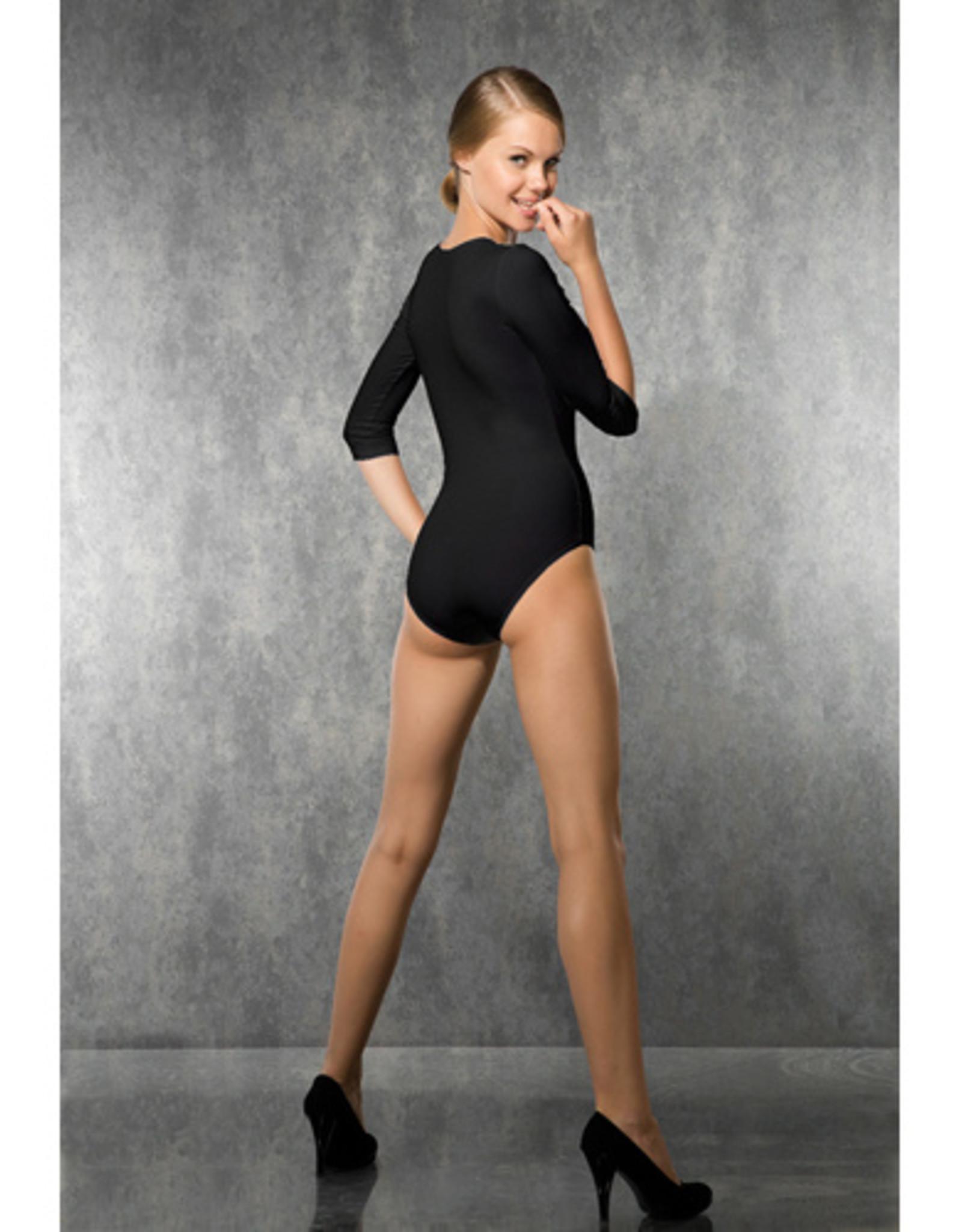 Doreanse Basic Body Met 3/4 Mouwen - Zwart