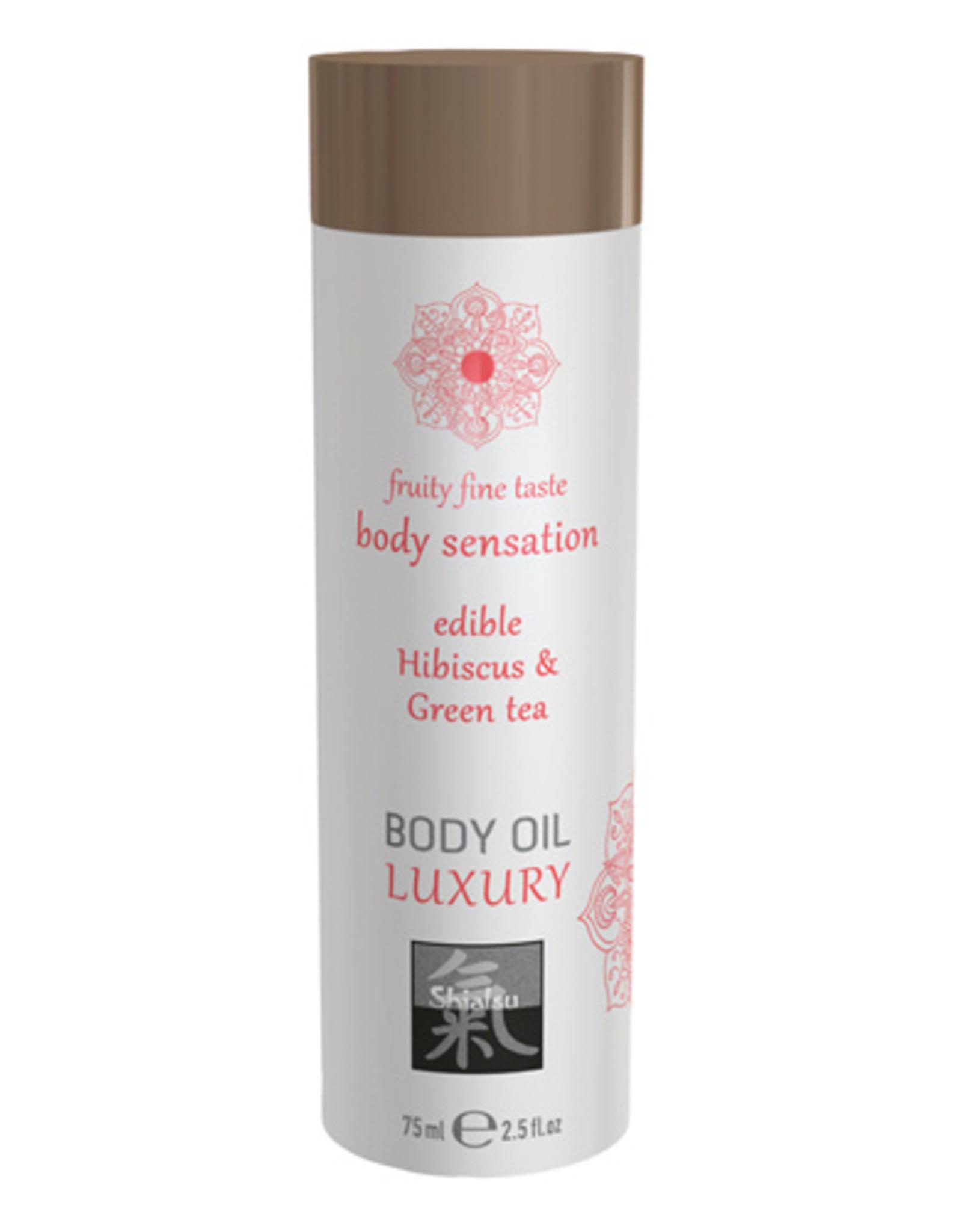 Shiatsu Luxe Eetbare Body Oil - Hibiskus & Groene Thee