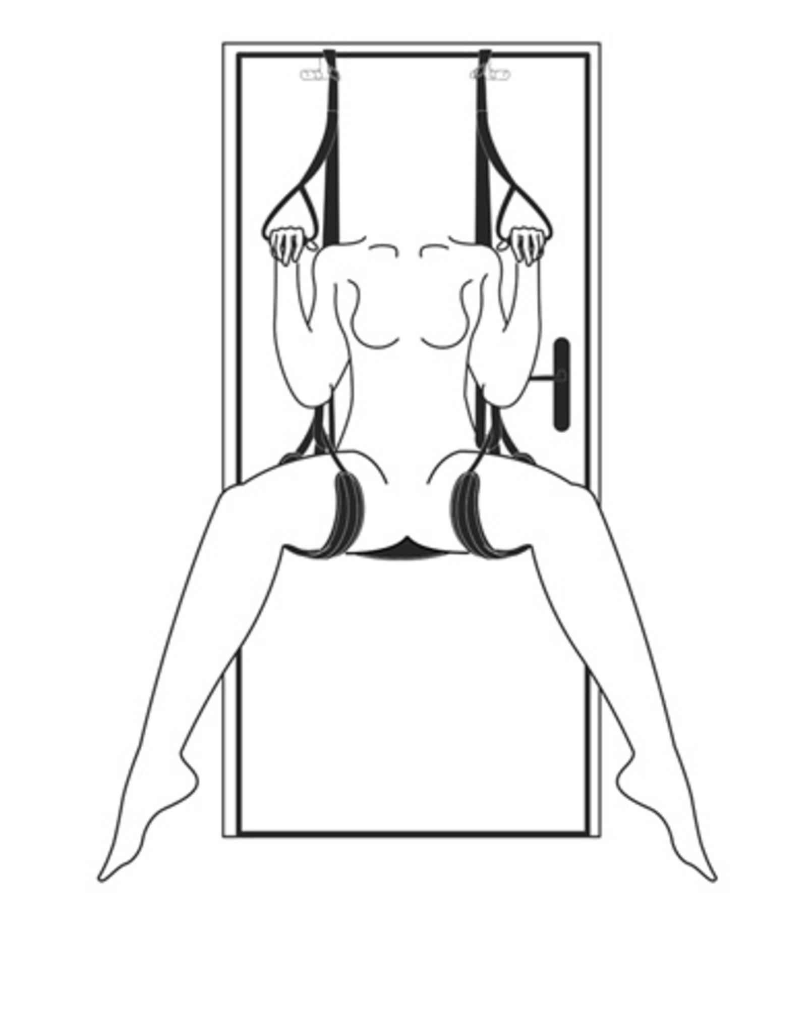 Easytoys Fetish Collection Leg & Bum Support Over The Door Swing