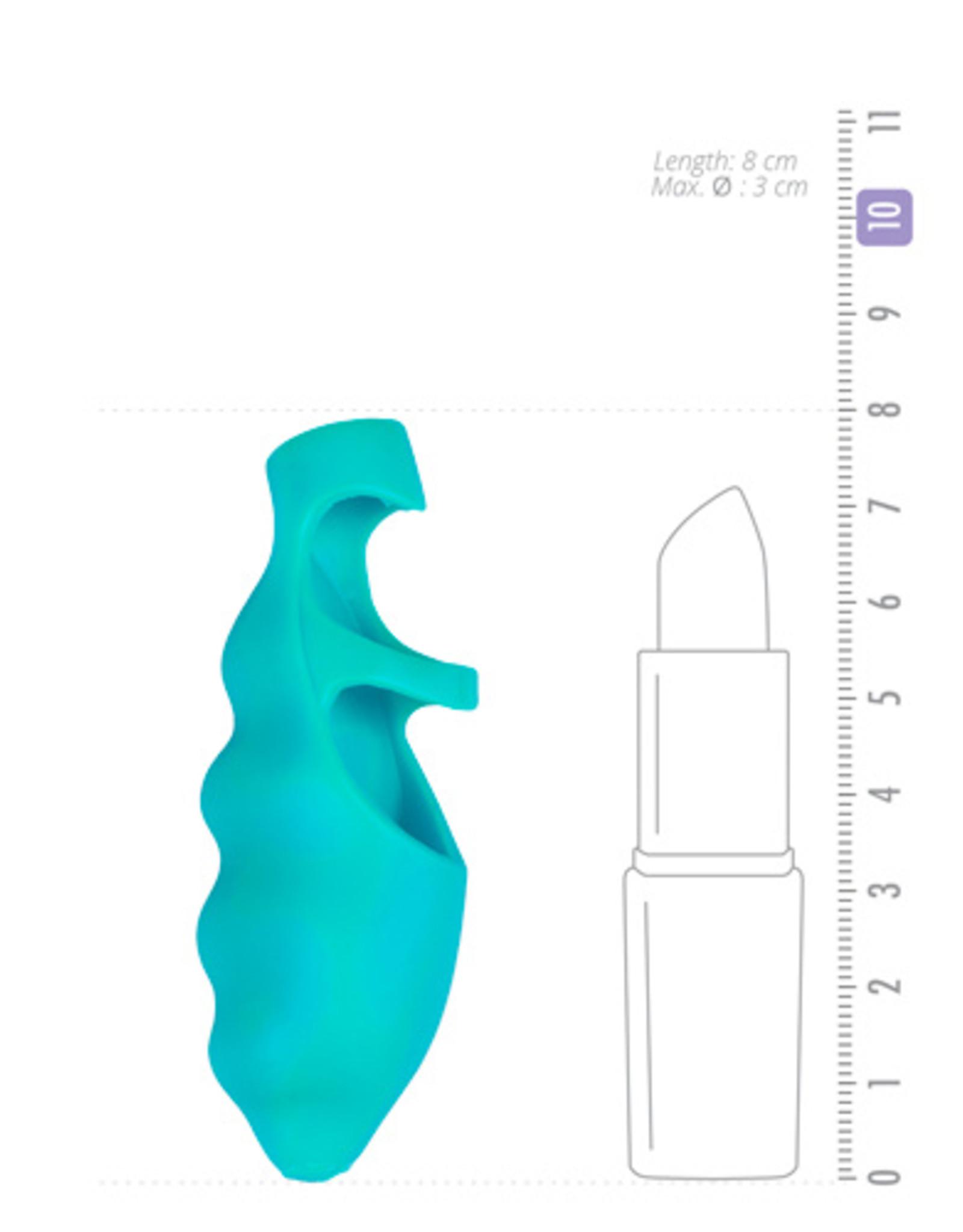 Frisky Finger Bang-her Vibe - Vinger Vibrator - Turquoise