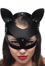 Master Series Bad Kitten - Zwart Leren Masker