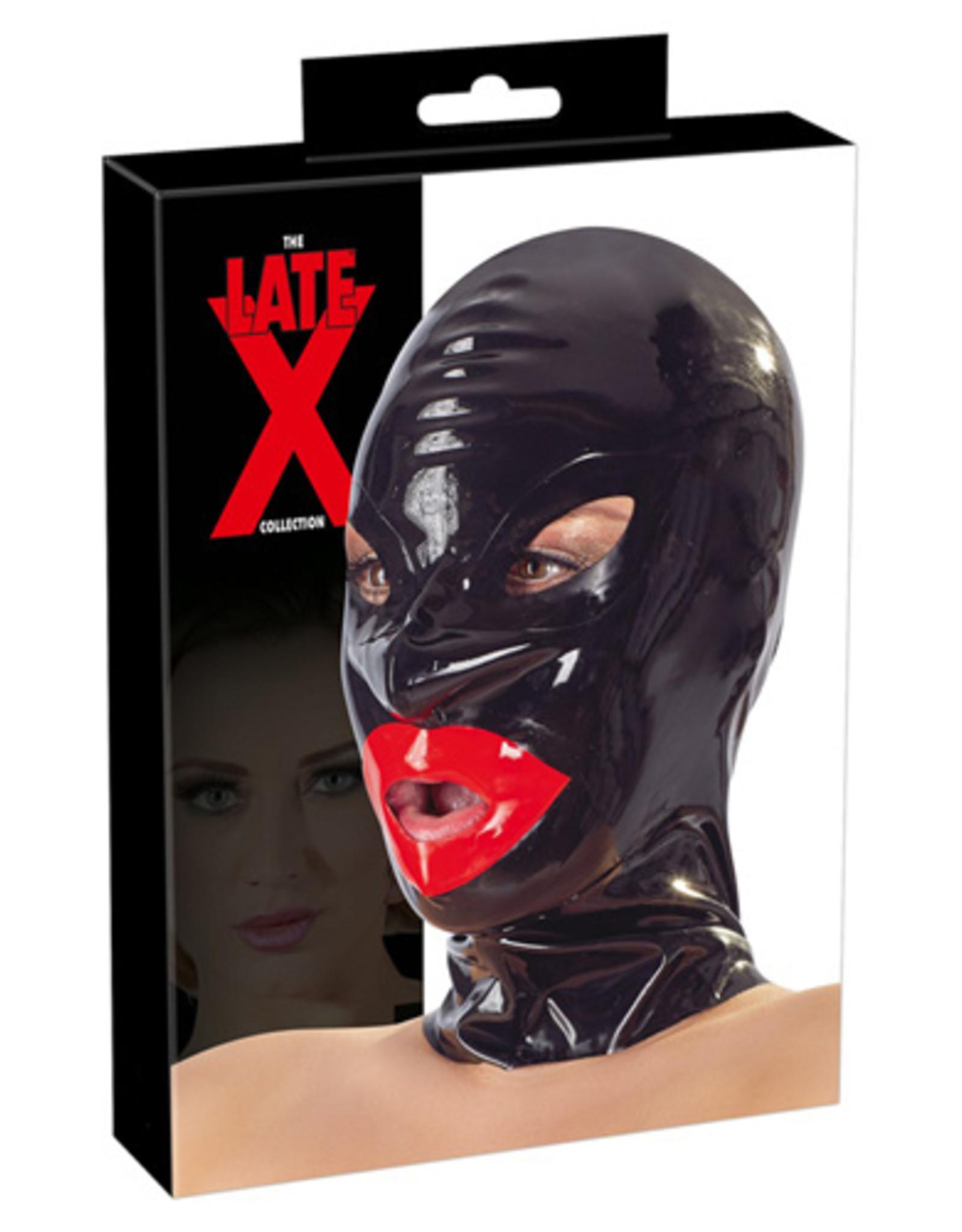 The Latex Collection Bondage Hoofdmasker Met Lippen