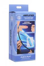 Zeus Electrosex Amplifier E-Stim Cock & Ball Strap Met Dilator