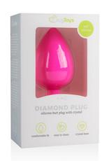 Easytoys Anal Collection Diamond Plug Groot - Roze