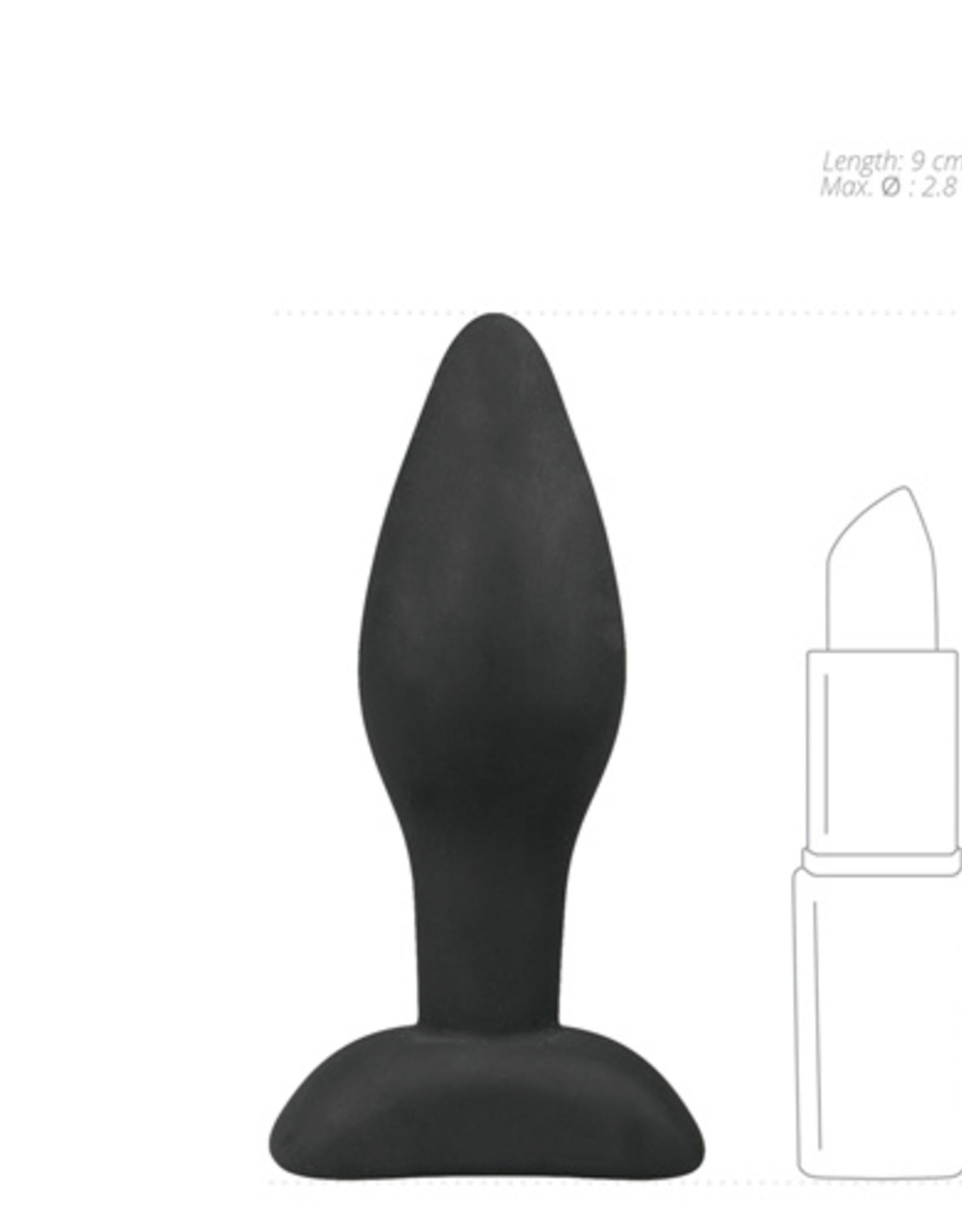 Easytoys Anal Collection Kleine zwarte siliconen buttplug