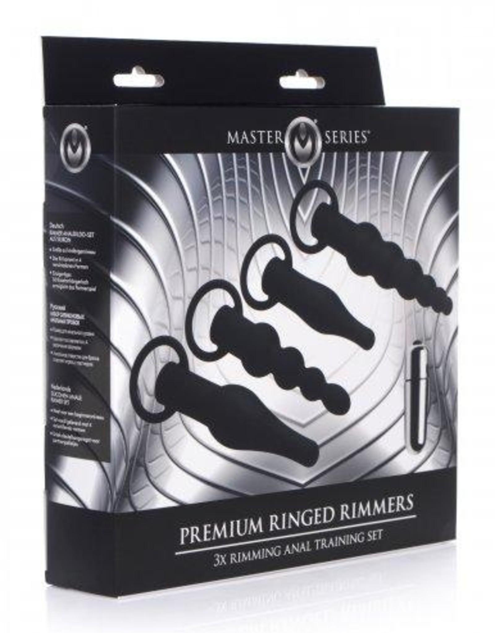 Master Series 4-Delige Anaal Plug Set Met Bullet Vibrator