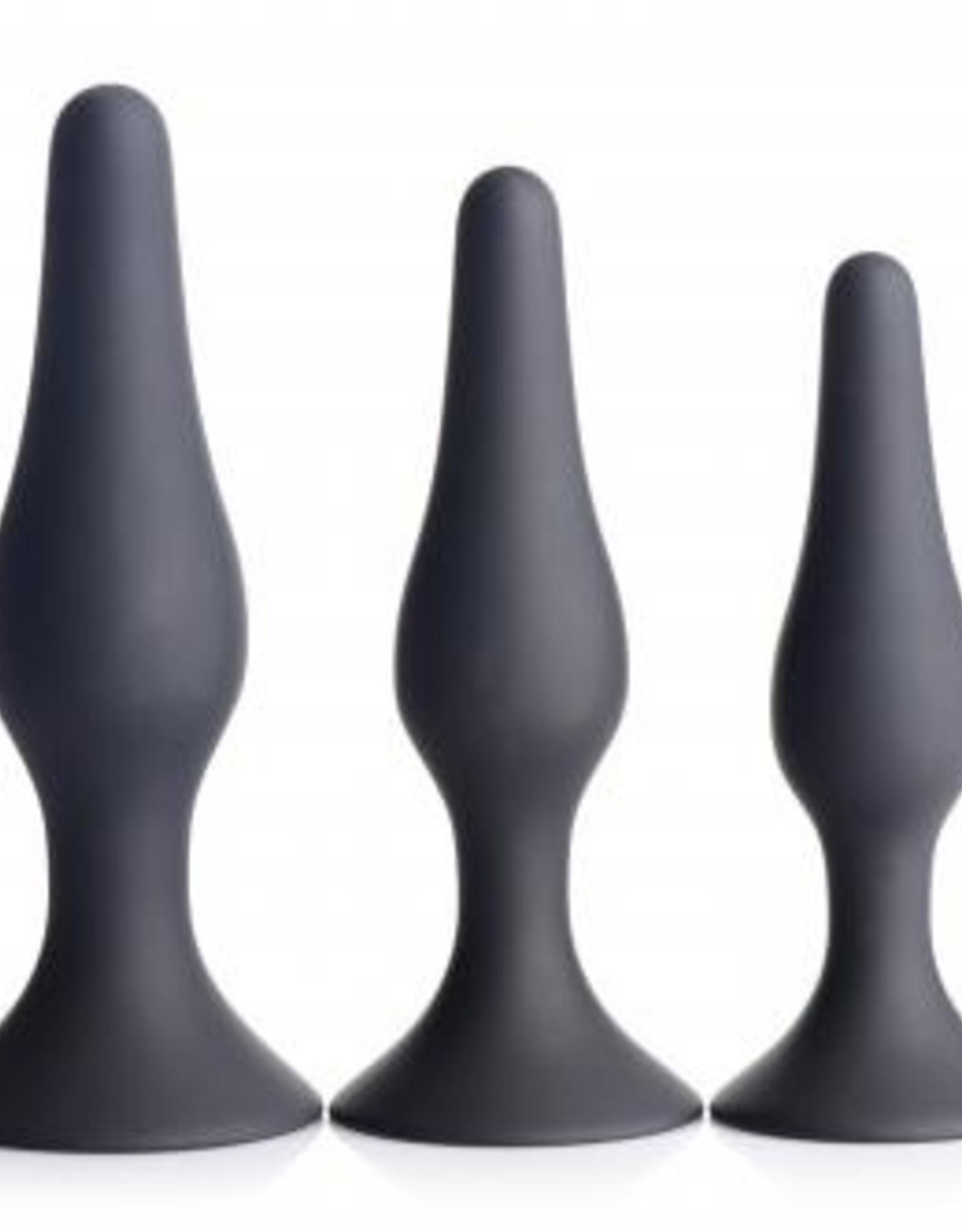 Master Series 3-Delige Siliconen Anaal Plug Set
