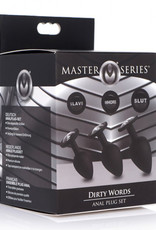 Master Series Dirty Words Buttplug Set