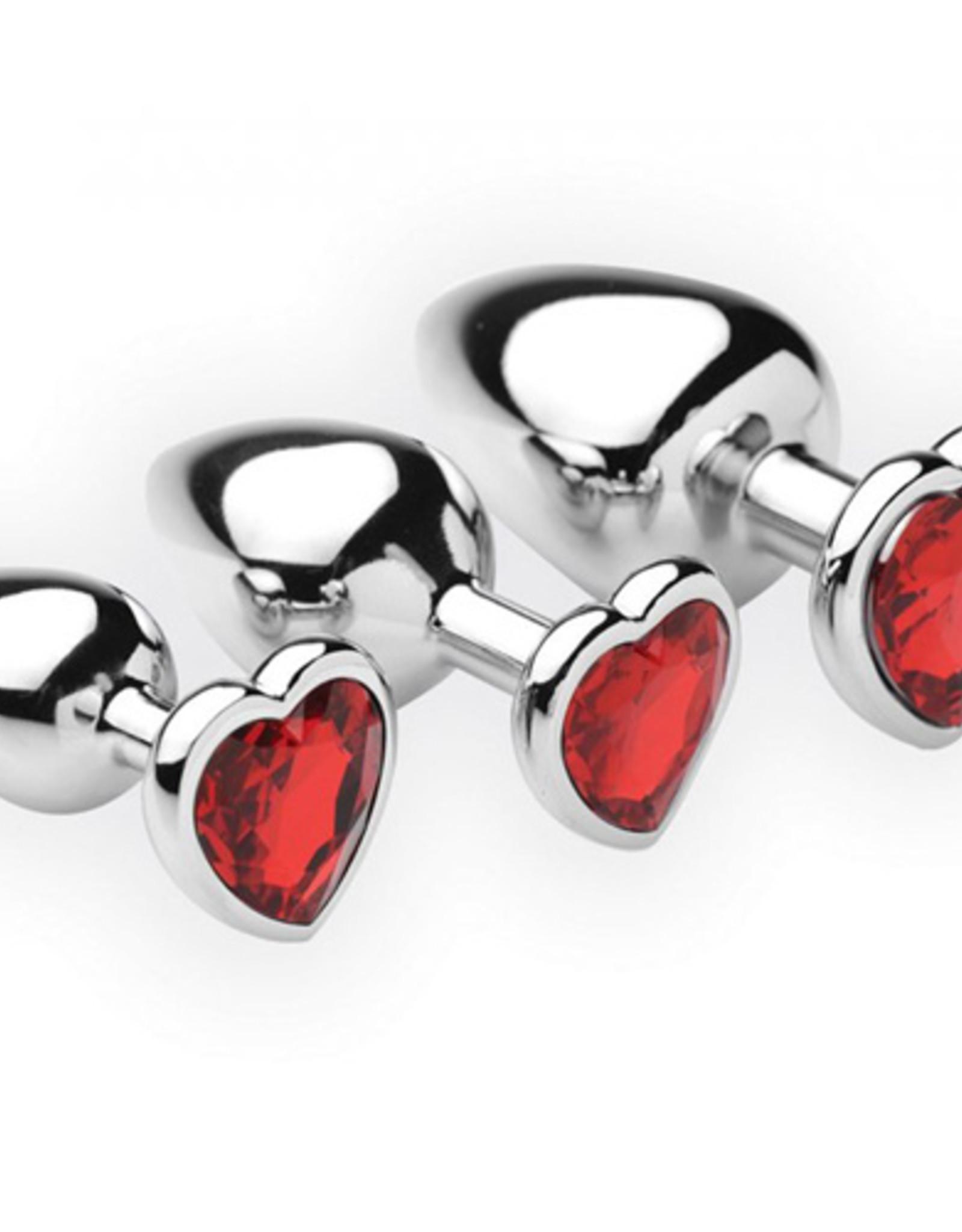 Frisky Chrome Hearts 3-Delige Buttplug Set