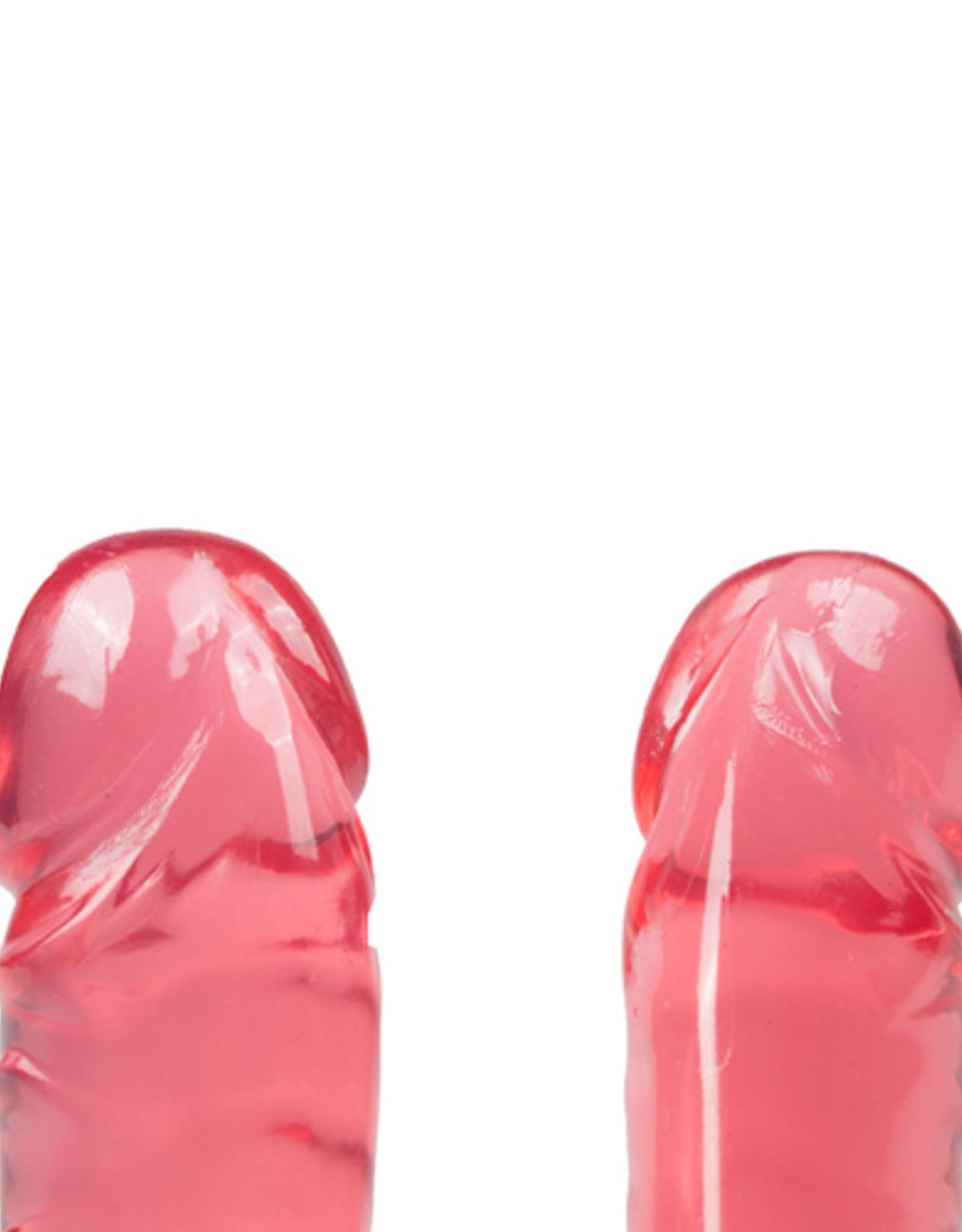 Crystal Jellies Crystal Jellies Dubbel Dildo - Roze