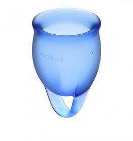 Satisfyer Satisfyer Feel Confident Menstruatie Cup Set - Blauw