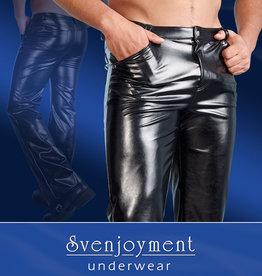 Svenjoyment Underwear Imitatie-Leren Broek Voor Mannen - Zwart