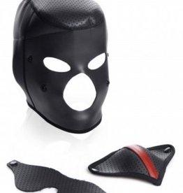 Master Series Scorpion Hood Met Afneembare Blinddoek En Mondmasker