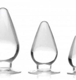 Master Series Triple Cones Anaalplug Set van 3 - Transparant