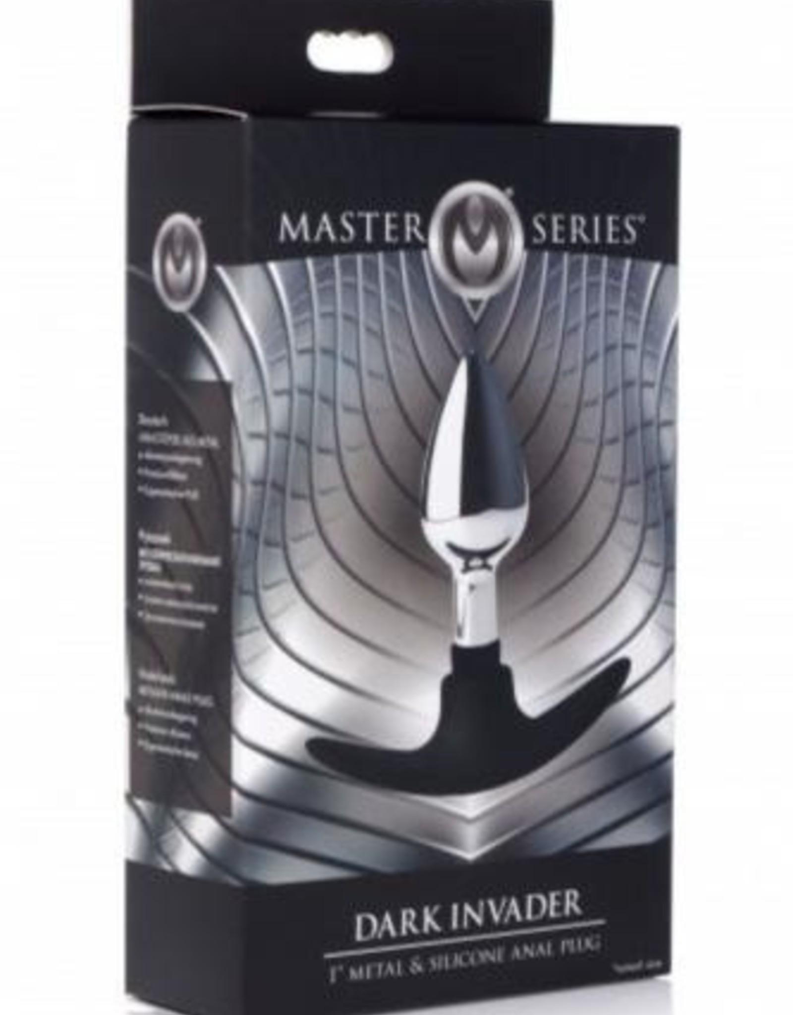 Master Series Dark Invader Anaalplug Metaal - Small