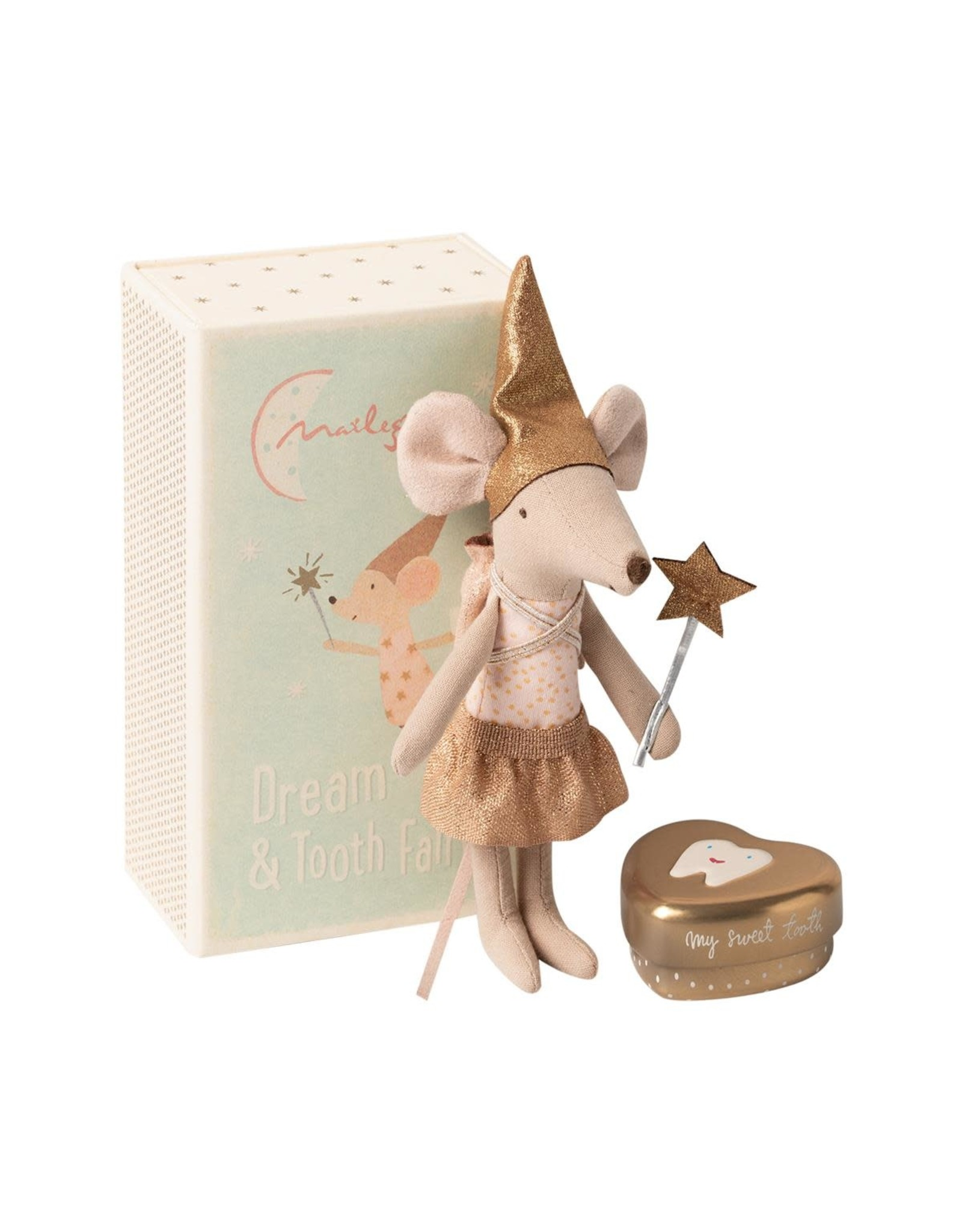 MAILEG Tooth fairy mouse in matchtbox, Big Sister