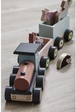 Kids Concept Train + animaux Edvin