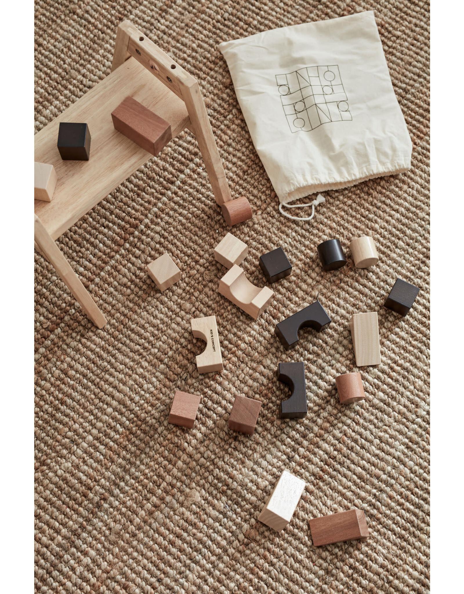 Kids Concept Cubes de construction natural