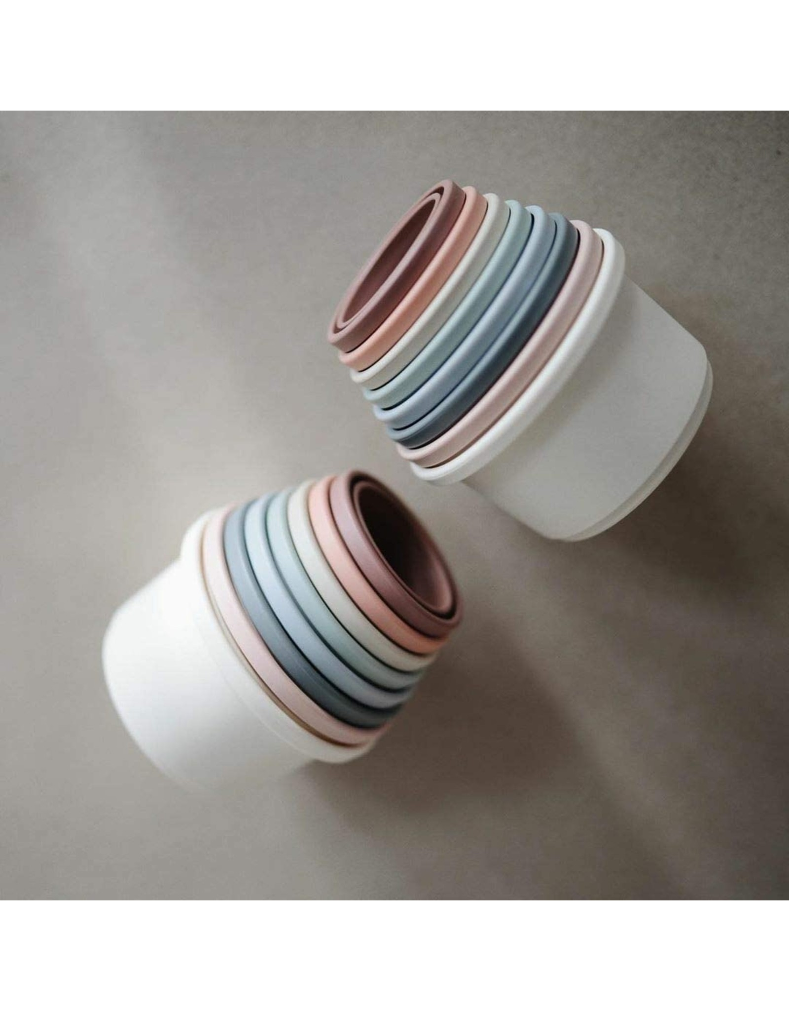 Mushie Stacking cups empilable Pastel
