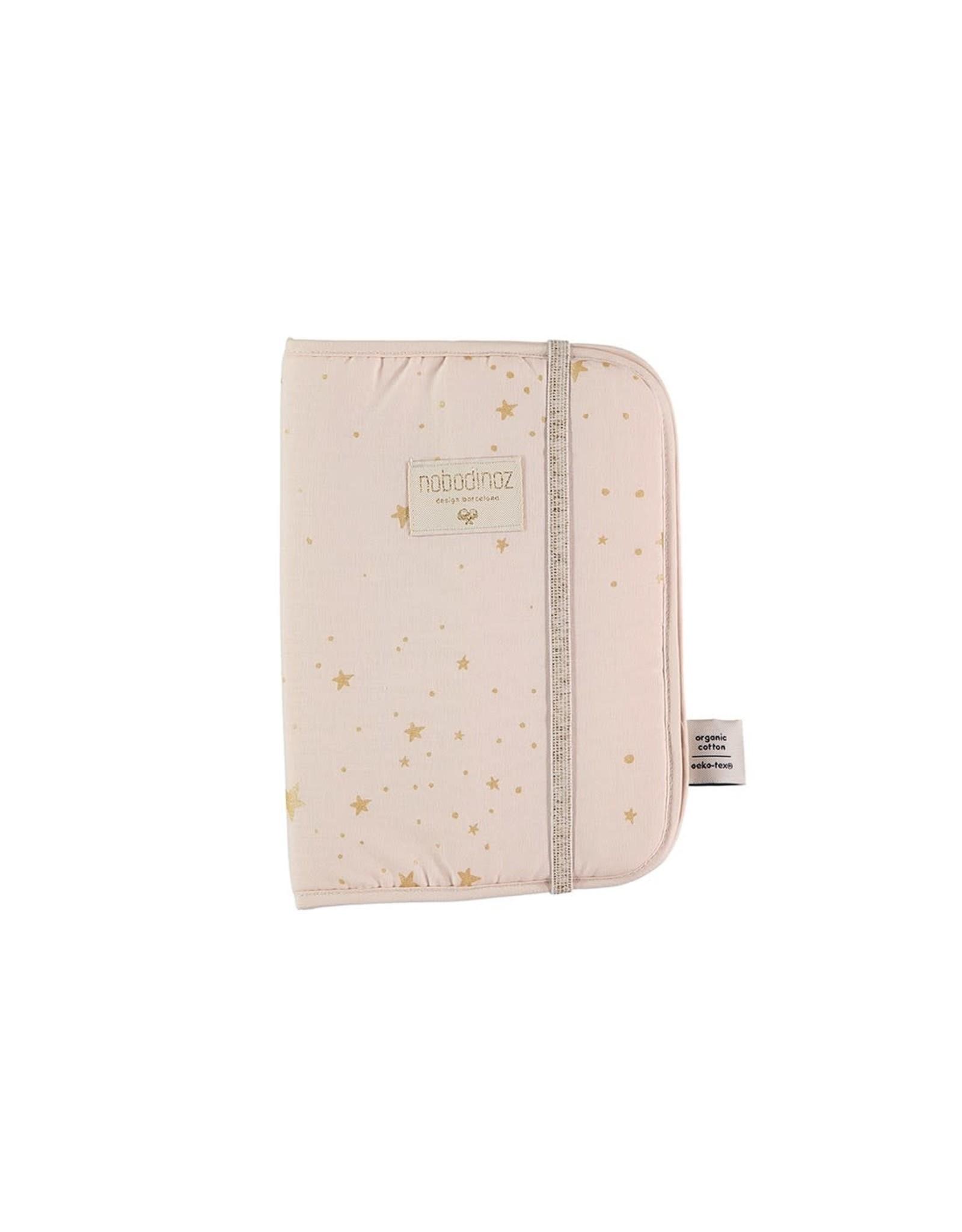 nobodinoz Protège-carnet de santé Poema  -  Gold Stella/Dream Pink