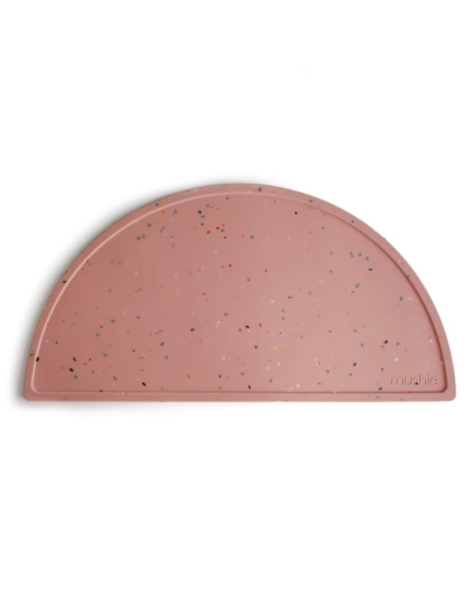 BIBS / mushie Set de table en silicone -  Confetti pink powder