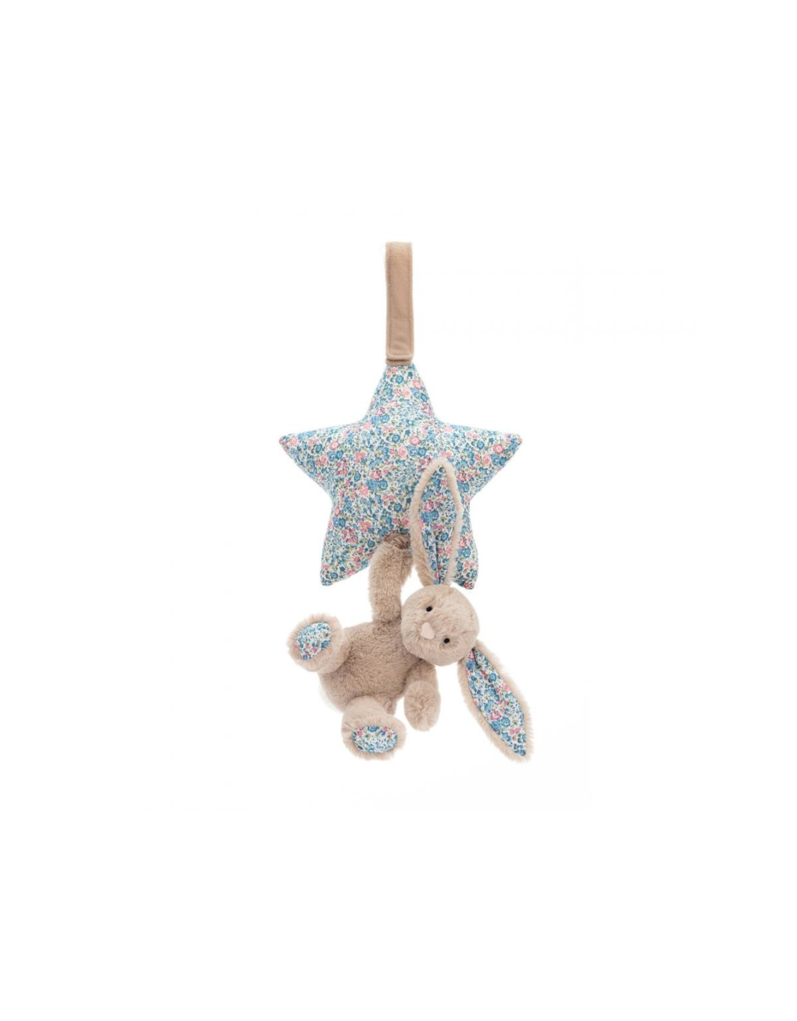 Jellycat Blossom Bunny Musical pull Beige