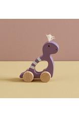 Kids Concept Jouet à trainer Dino Mauve